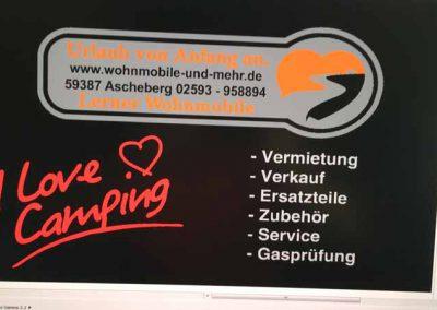 Entwurf einer Fußmatte für Wohnmobile-und-mehr.de