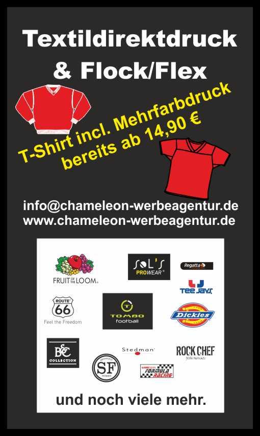 Werbung Aktion T-Shirt mit Direktdruck ab 14,90 €